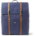 Mismo Leather-Trimmed Twill Backpack