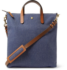 Mismo Leather-Trimmed Twill Tote