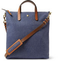 Mismo - Leather-Trimmed Twill Tote