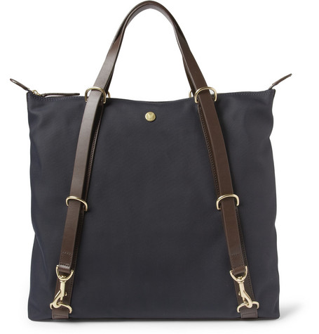Mismo Leather-Trimmed Canvas Tote