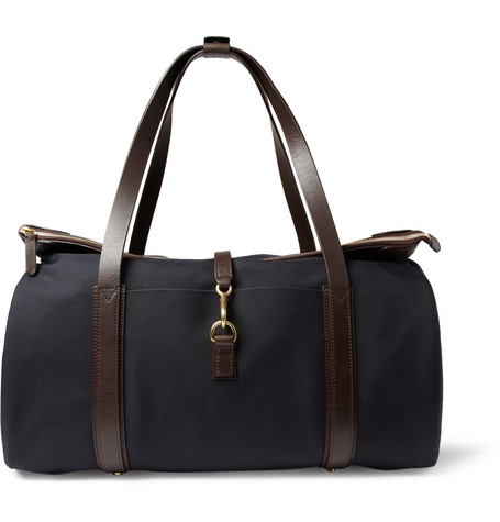 Mismo Adventurer Leather-Trimmed Canvas Holdall Bag