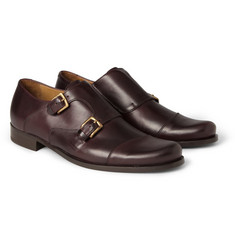 Billy Reid Leather Monk-Strap Shoes