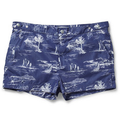 Robinson les Bains Oxford Printed Mid-Length Swim Shorts