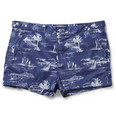 Robinson les Bains - Oxford Printed Mid-Length Swim Shorts