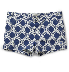 Robinson les Bains Oxford Short-Length Printed Swim Shorts
