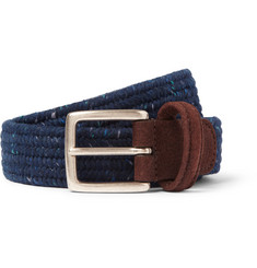 Anderson's Nubuck-Trimmed Elasticated Woven Belt