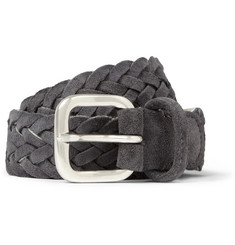 Anderson's Woven-Suede and Fabric Belt
