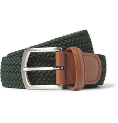 Anderson's Leather-Trimmed Woven Belt