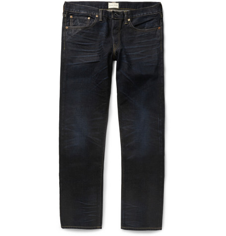Simon Miller Rainer Washed Straight-Fit Selvedge Denim Jeans