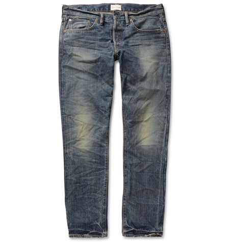 Simon Miller Knoll Straight-Fit Washed Selvedge Denim Jeans