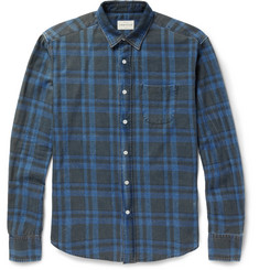 Simon Miller Check-Print Washed Cotton-Twill Shirt