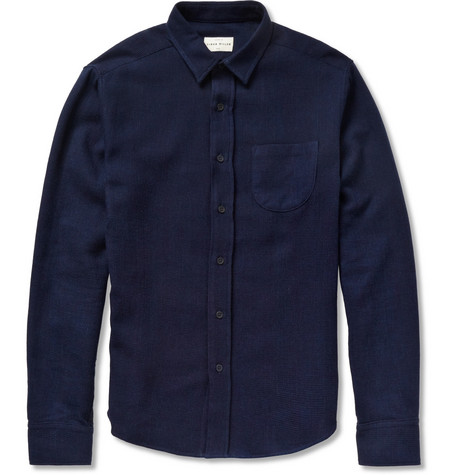 Simon Miller Slim-Fit Waffle Cotton Shirt