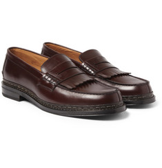 Heschung Helix Fringed Leather Loafers