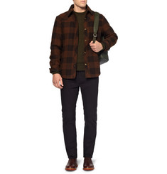 A.P.C. Check Quilted Wool Shirt Jacket
