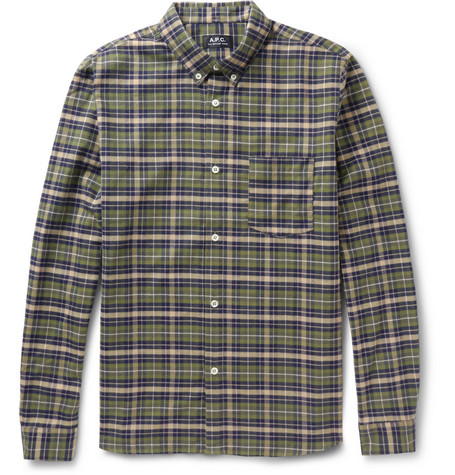 A.P.C. Plaid Cotton-Flannel Shirt