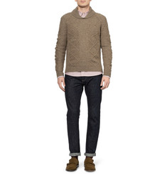 A.P.C. Wool-Blend Shawl Collar Sweater