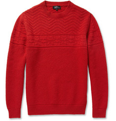 A.P.C. Patterned Merino Wool Sweater