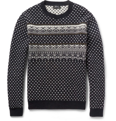 A.P.C. Fair Isle Merino Wool Sweater