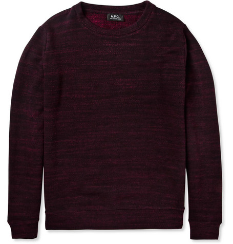 A.P.C. Flecked Cotton-Blend Jersey Sweatshirt