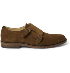 A.P.C. Suede Double Monk-Strap Shoes