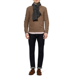 A.P.C. Cable Knit Wool and Yak-Blend Scarf
