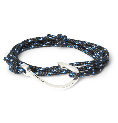 Miansai Rope And Metal Hook Wrap Bracelet