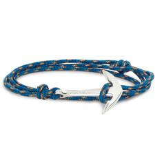 Miansai Rope and Silver Anchor Bracelet