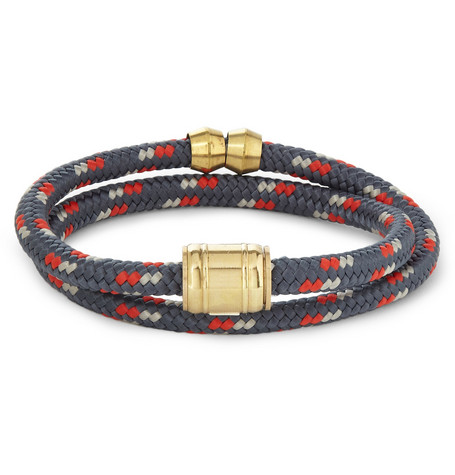 Miansai Woven-Cord and Metal Wrap Bracelet