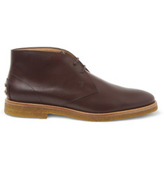 Tod's No_Code Crepe-Sole Leather Desert Boots