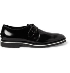 Tod's No_Code High-Shine Leather Monk-Strap Shoes