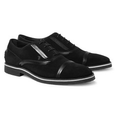Tod's No_Code Contrast-Seam Suede Oxford Shoes