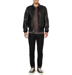 Schott A-2 Pebbled-Leather Bomber Jacket