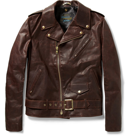 Schott Perfecto Vintage Oiled-Leather Motorcycle Jacket