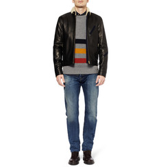 Edwin ED-80 Slim-Fit Rainbow Selvedge Washed-Denim Jeans