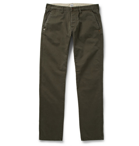Edwin Regular-Fit Stone-Washed Cotton-Blend Twill Chinos