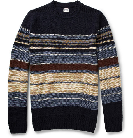 Edwin Docker Striped Wool-Blend Sweater