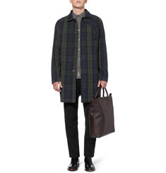 YMC Check Waxed-Cotton Overcoat