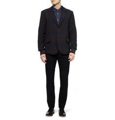 YMC Boxy Striped Textured Wool-Blend Blazer