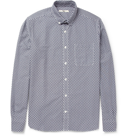 YMC Check-Print Cotton Oxford Shirt