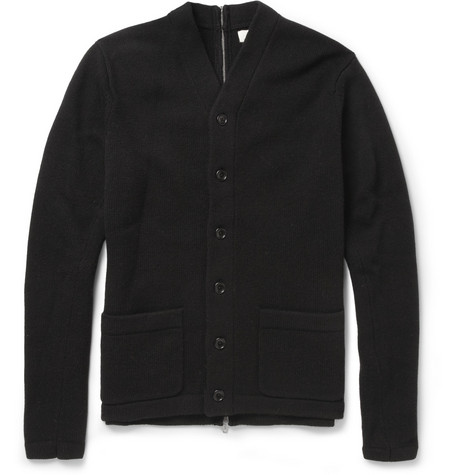 YMC Zip-Backed Wool Cardigan