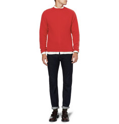 YMC Rennie Brushed Knitted-Wool Sweater