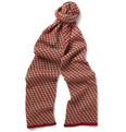 YMC Patterned-Knit Merino Wool Scarf