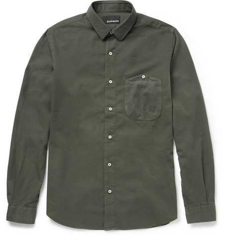 Bespoken Contrast-Pocket Cotton Shirt