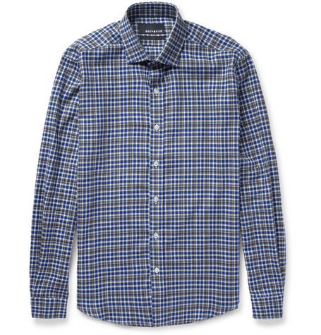 Bespoken Slim-Fit Check Cotton-Flannel Shirt
