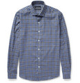 Bespoken - Slim-Fit Check Cotton-Flannel Shirt