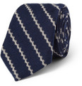 Bespoken Patterned Wool and Silk-Blend Tie