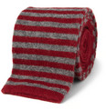 Bespoken Striped Wool and Cashmere-Blend Knitted Tie
