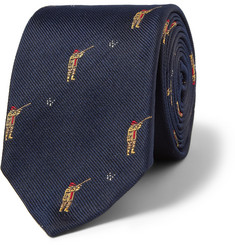 J.Crew Skeet Shooter-Embroidered Silk Tie
