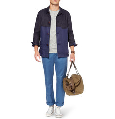 J.Crew Abingdon Waxed Cotton-Canvas and Leather Holdall Bag