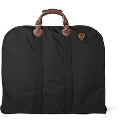 J.Crew Leather-Trimmed Nylon Suit Carrier